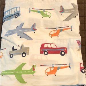 Pottery Barn kids airplane bedding set